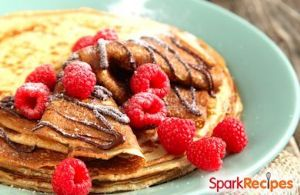 Protein-Packed Chocolate Peanut Butter Pancakes
