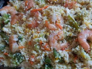 Thai Ginger, Chicken & Shrimp Couscous Salad