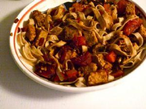 Tempeh Tomato Pasta