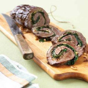 HCG P2 Flank Steak Spinach Rolls