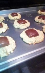 Dark Chocolate Peanut Butter Dream Cookies