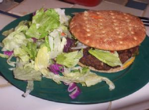 Black Bean and Bulgur veggie burgers