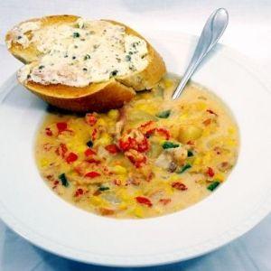 Crawfish & Crab Corn Chowder