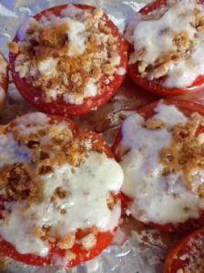 Broiled Mozzarella Tomato Halves