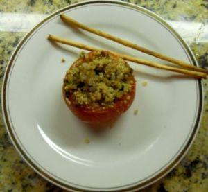 HCG baked stuffed tomatoes