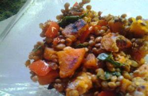 Lentils with Sweet Potato
