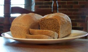 Sprouted Wheat (or Spelt) and Honey Bread for One