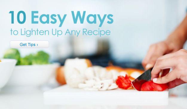 10 Easy Ways to Lighten Up Any Recipe