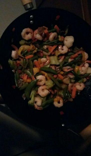 Broccoli Shrimp Stir Fry - From Frozen Veggies