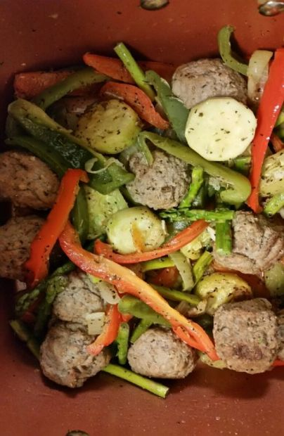 Italian Meatballs and Vegetables