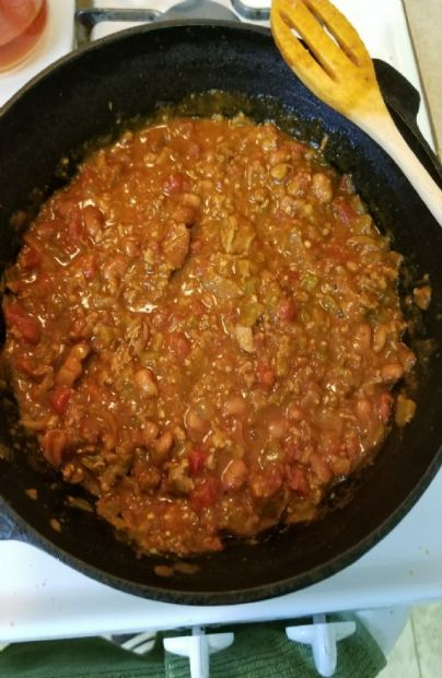 Beef chili with beans
