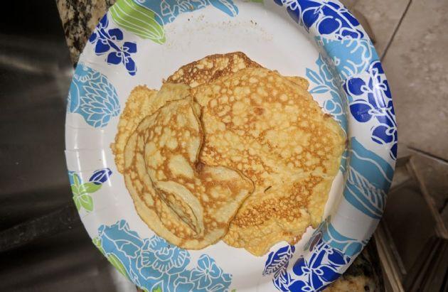 Keto Cream Cheese & Sour cream Pancakes