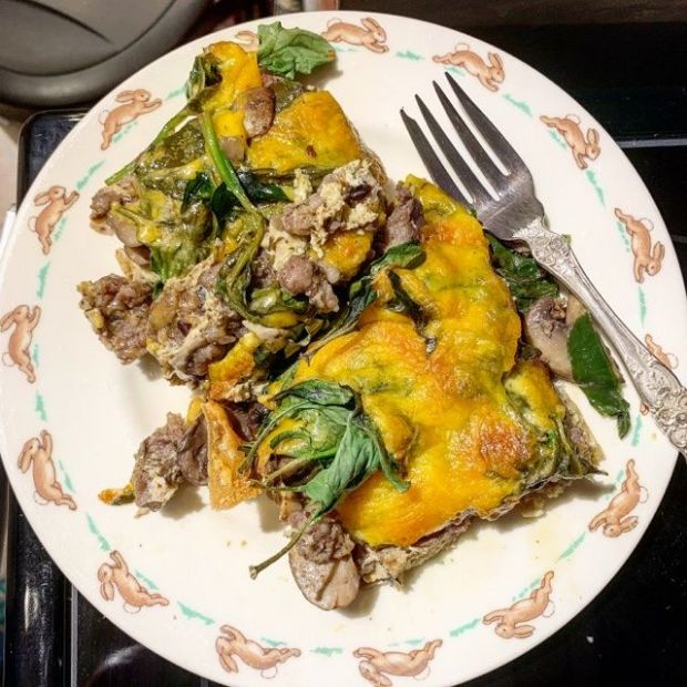 Sausage and Spinach Casserole
