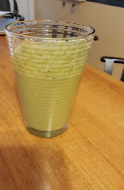 Banana kale breakfast shake