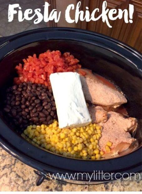 Fiesta Crockpot Chicken