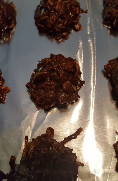 Coconutty No Bake Cookies