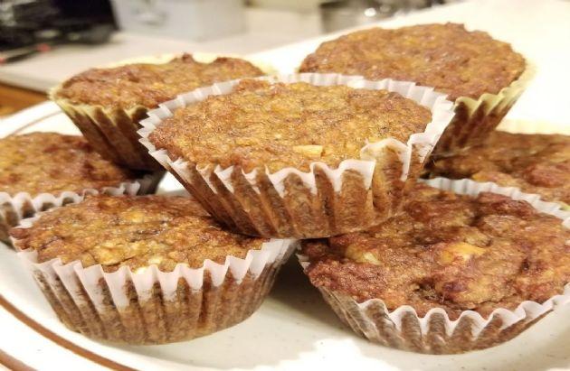 Almond flour banana nut muffins