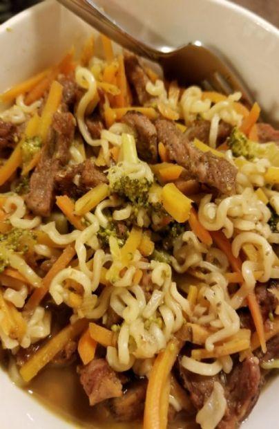 Beef-Broccoli Noodle Bowl