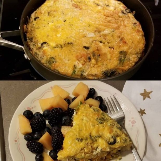Sweet potato and Vegetables Frittata