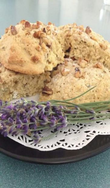 Tess' Traditional Lavender Scones