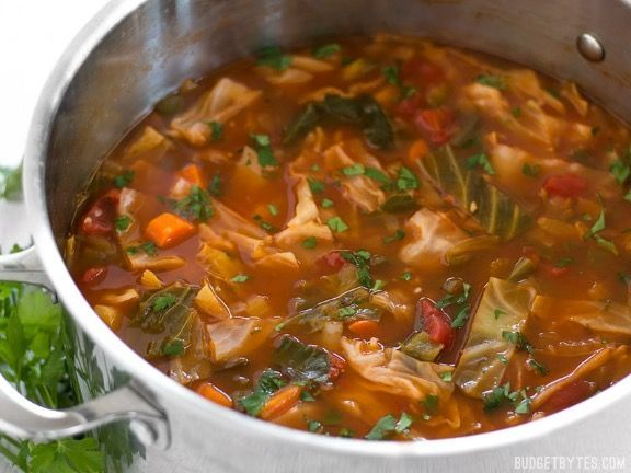 All You Can Eat Cabbage Soup (Budget Bytes)