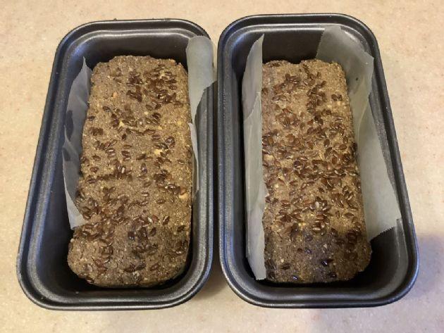 Almond eggless bread no yeast
