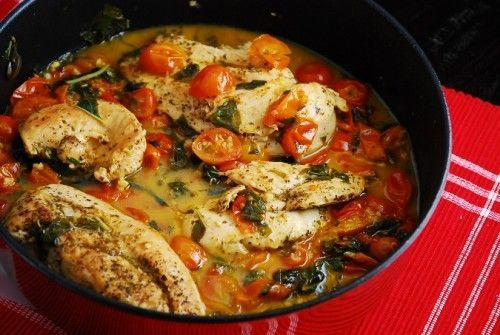 Amber's Tomato Basil Chicken