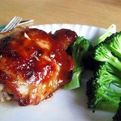 Baked Teriyaki Chicken Thighs (w/skin & bone)