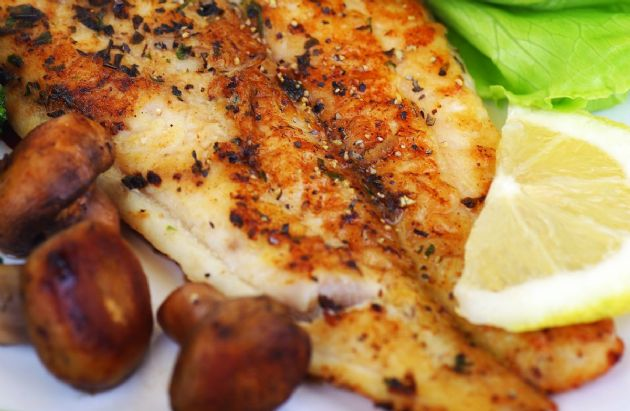 Baked White Fish with Mushrooms