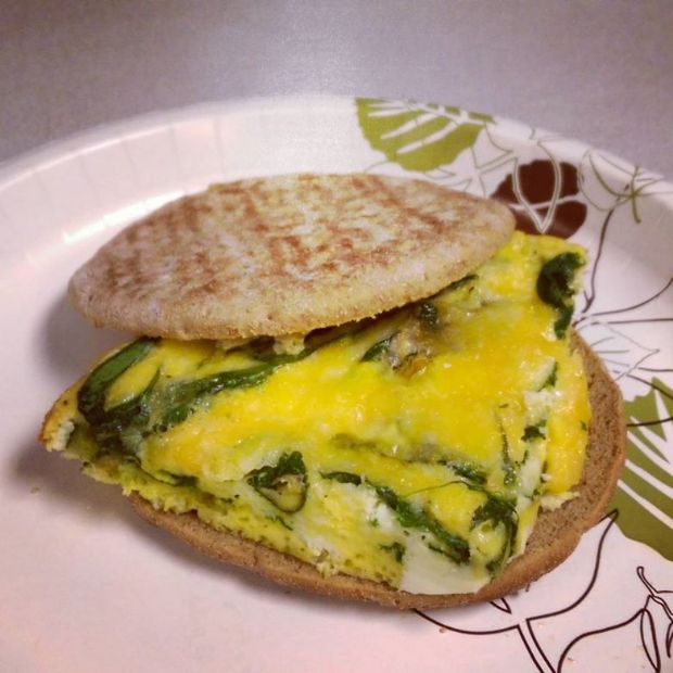 Oven Scrambled Eggs With Cheese: Baked Scrambled Eggs With Cheese And Spinach Recipe