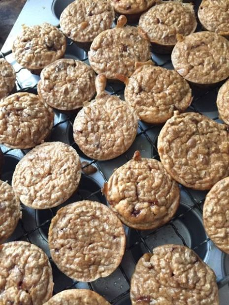 Banana toffee muffins