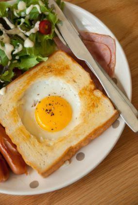 300 Calorie Breakfast - Bird's Nest with Bacon