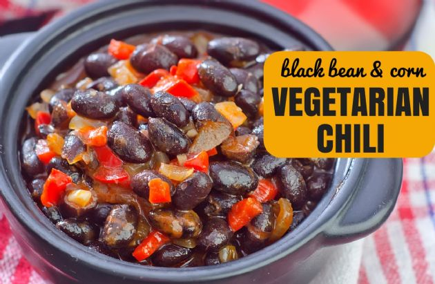 Black Bean and Corn Vegetarian Chili