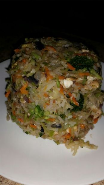 Brandy's Chicken and Veggie Fried Rice