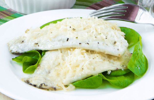 Broiled White Fish Parmesan