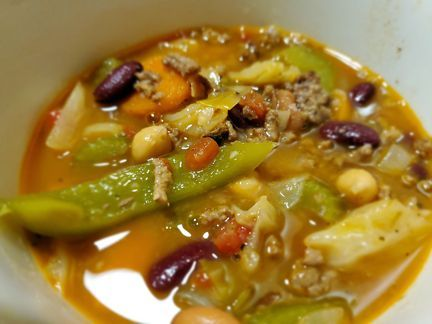 Cabbage, Bean and Beef Soup