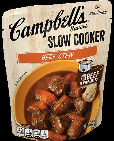 Campbell S Slow Cooker Beef Stew Prepared Recipe