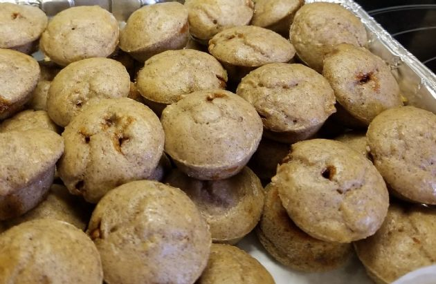 Cannellini Cinnamon Bun Blondie Protein Muffins