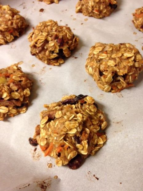 Carrot Oatmeal Protein Breakfast Cookies