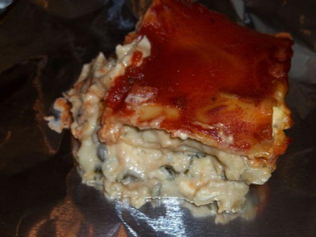 Cauliflower Alfredo Spinach Artichoke Lasagna