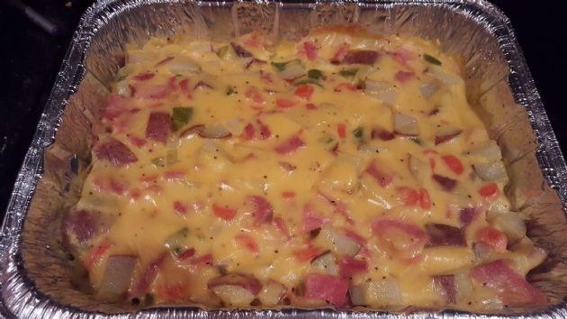 Cheesy Ham and Potato Casserole (*