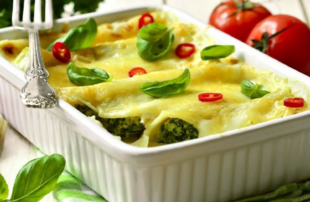Cheesy Spinach Enchiladas