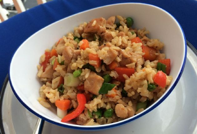 Chicken Fried Rice (brown rice)
