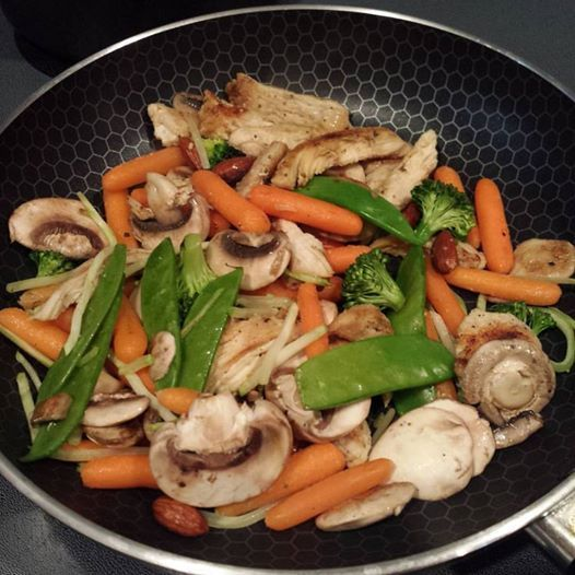 Chicken Stirfry Almond Ding Drea S Way Recipe Sparkrecipes