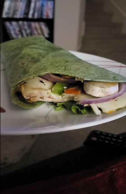 Chicken mushroom Spinach wrap