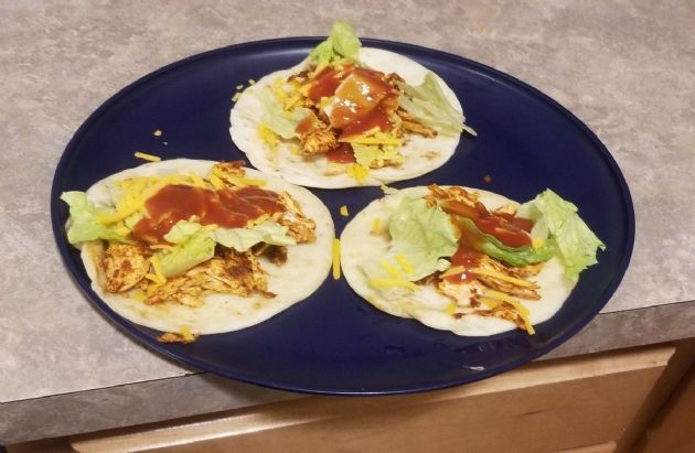 Chicken street tacos for one