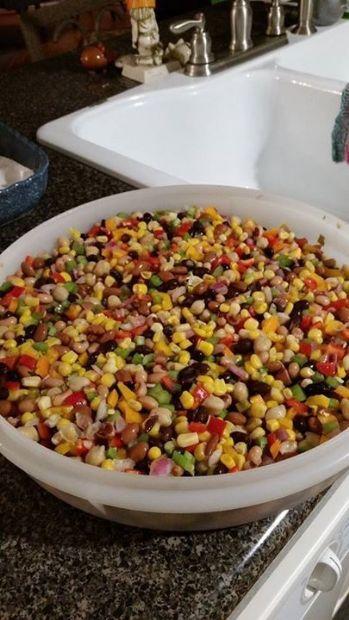 Chilled Mixed Bean & Corn Relish