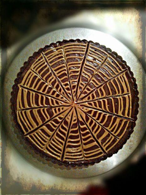 Chocolate mousse peanut butter tart