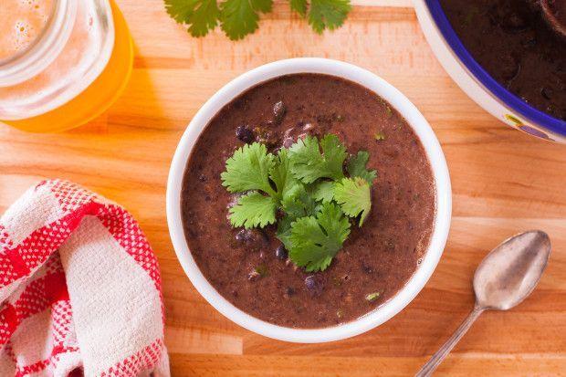 Cilantro Lime Black Bean Soup