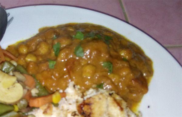 Coconut Milk Curry Chickpeas